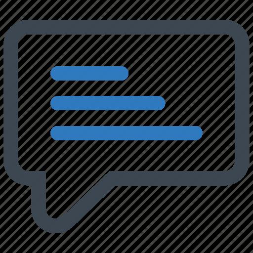 comment, speech bubble, talk icon