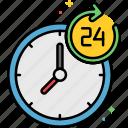 24, clock, hours, working