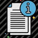 info, data, information icon