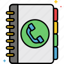 phone, book, contacts icon
