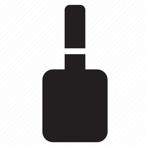 bottle, container, nail polish, packaging icon