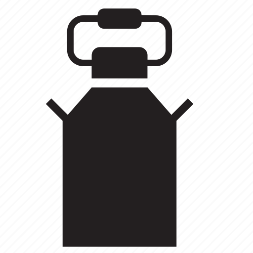 can, dairy, farm, milk, milkcan, pail, strainer icon