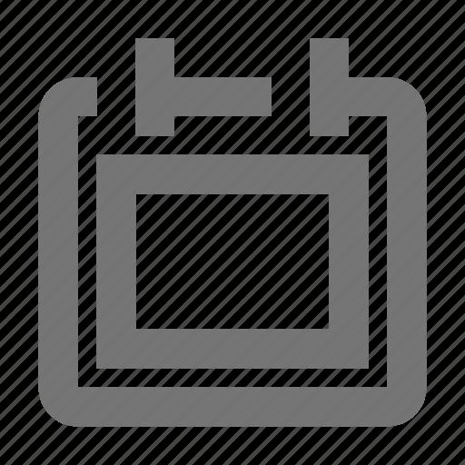 board, calendar, content icon
