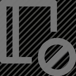 block, book, content, stop icon