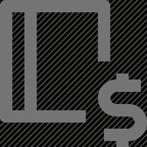 book, content, money icon