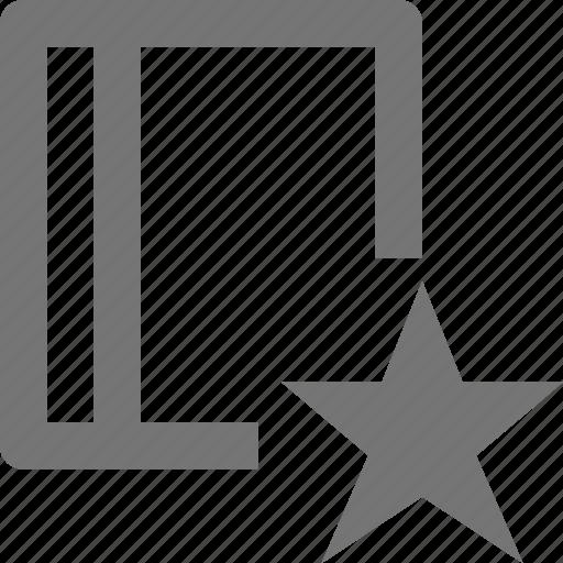 book, content, favorite, star icon