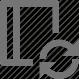 arrows, book, refresh, reload, sync icon