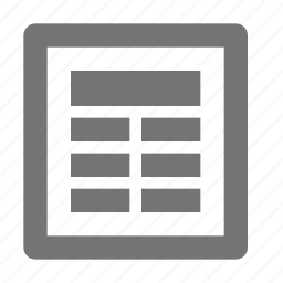 content, newspaper icon
