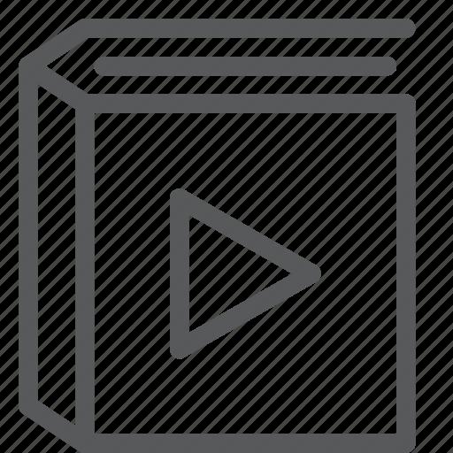 agenda, album, book, content, diary, media, play, video icon