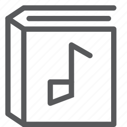 agenda, album, book, content, diary, music, note, song icon