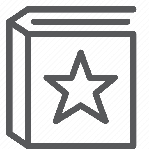 agenda, book, content, diary, favorite, notebook, read, star icon