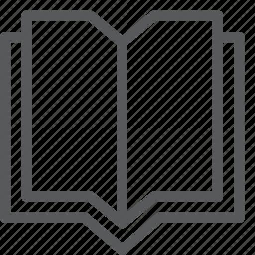agenda, book, content, diary, notebook, open, read icon