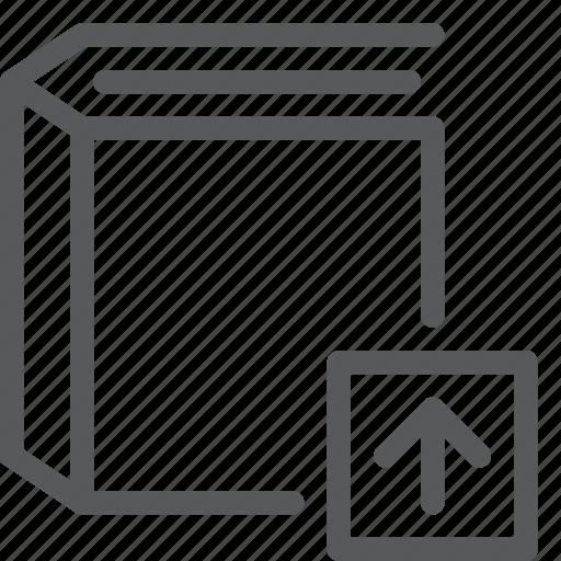 agenda, book, content, diary, notebook, read, send, upload icon