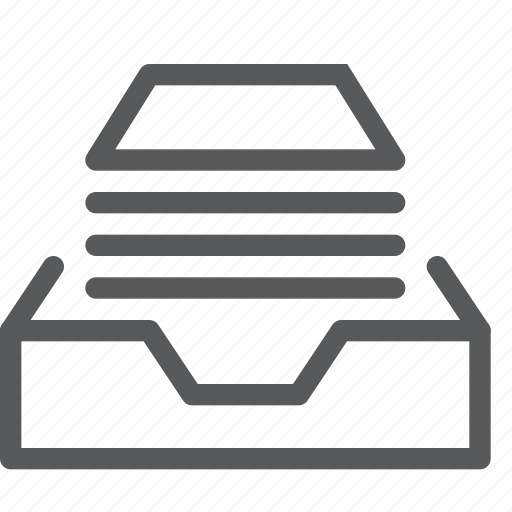 box, container, content, delivery, document, full, inbox, package icon