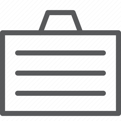 bag, briefcase, business, carry, content, document, storage icon