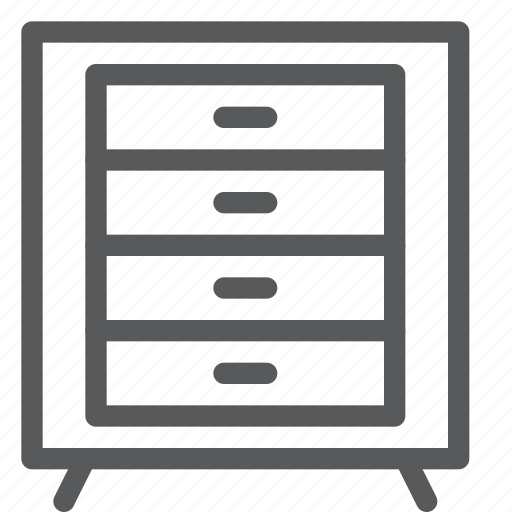 cabinet, content, document, drawer, office, storage, store icon