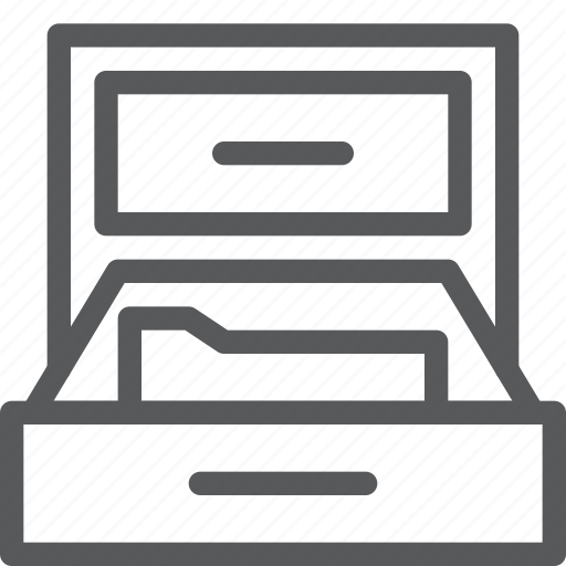 content, document, drawer, folder, office, storage, store icon