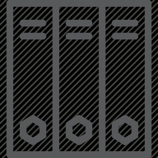 binders, content, document, folder, office, storage icon