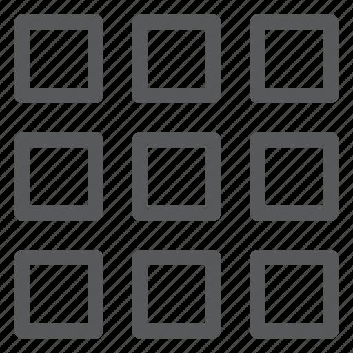 align, box, content, layout, module, storage, view, window icon