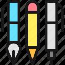 content, pens