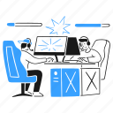esports, tournament, players, content, media, gamer, battle, vs, pc, gaming, rig icon