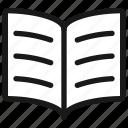 book, open, text