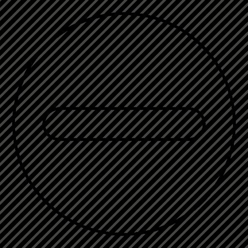 Circle, remove, delete, minus icon - Download on Iconfinder