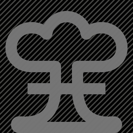 atomic, bomb, mushroom cloud icon