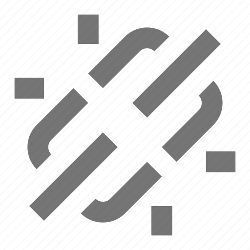 broken, chain, link icon
