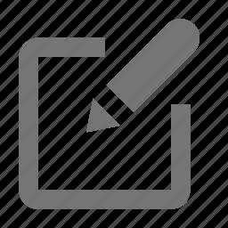 draw, edit, pen, pencil, school, text, write icon