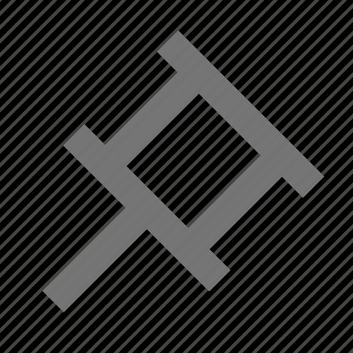pin, pushpin, tack icon
