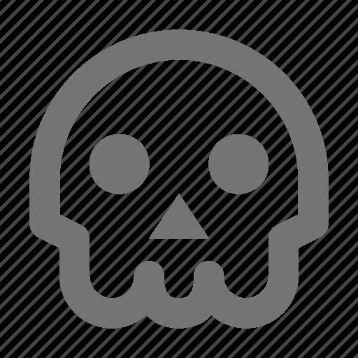 bones, danger, death, head, skeleton, skull, virus icon