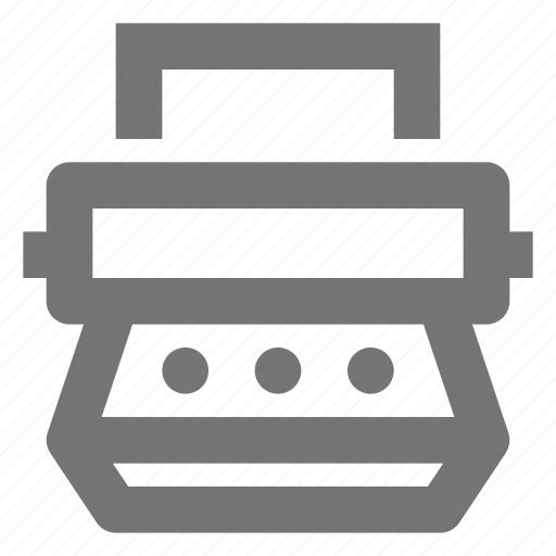type, typewriter icon