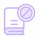banned, block, book, education, knowledge icon