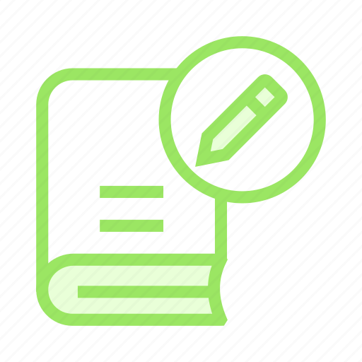 book, create, edit, pencil, write icon