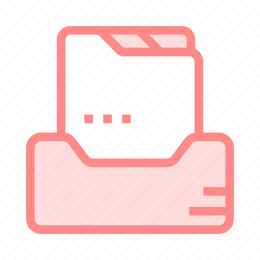 document, drawer, files, folder, records icon