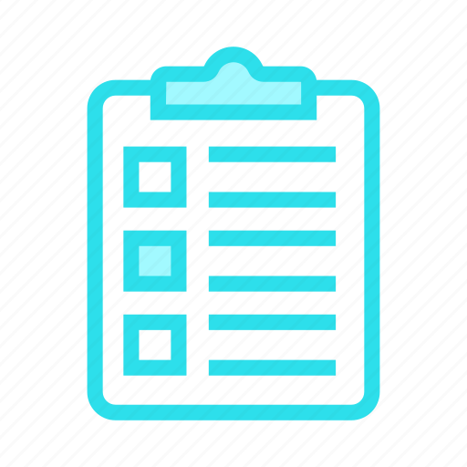 checklist, clipboard, document, survey, tasklist icon
