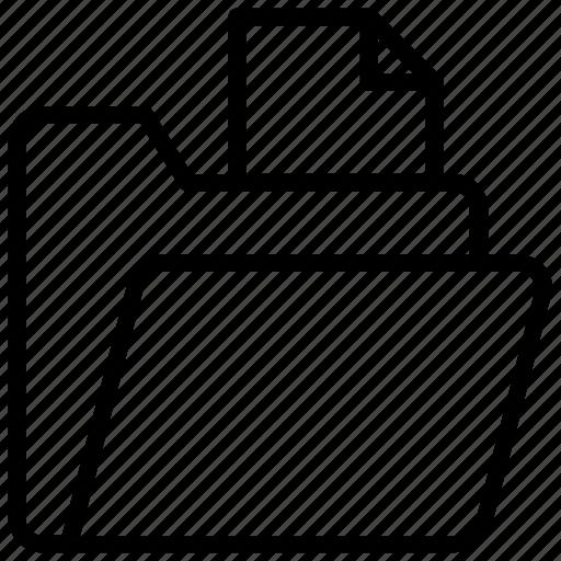 data folder, documents, file folder, files, record icon