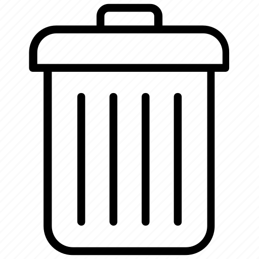 delete, dustbin, garbage can, recycle, trash can icon