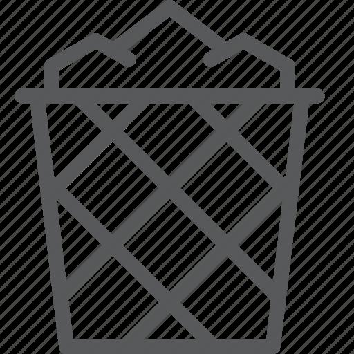 basket, bin, content, delete, edition, fill, recycle, trash icon