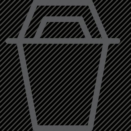 bin, content, delete, edition, junk, recycle, trash icon