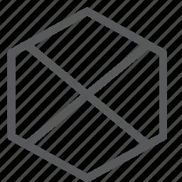 cancel, close, content, delete, discard, edition, hexagon, remove icon