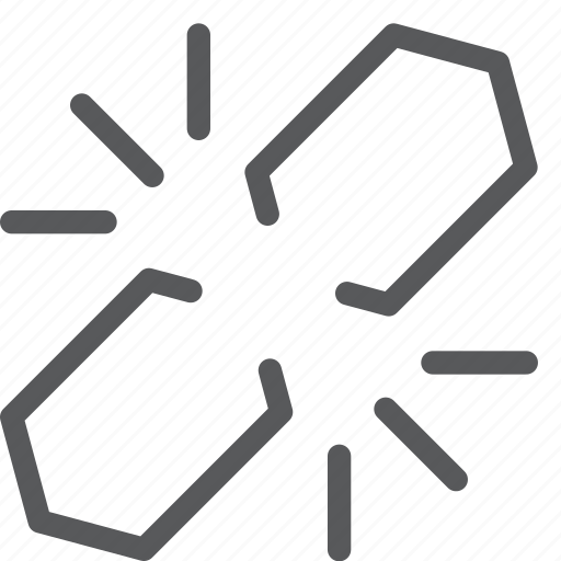 broken, chain, content, disconnect, edition, internet, link, network icon
