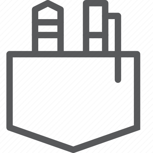 case, content, draw, edition, pen, pencil, pocket, text icon