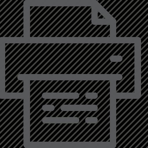 content, copier, document, edition, office, print, text icon