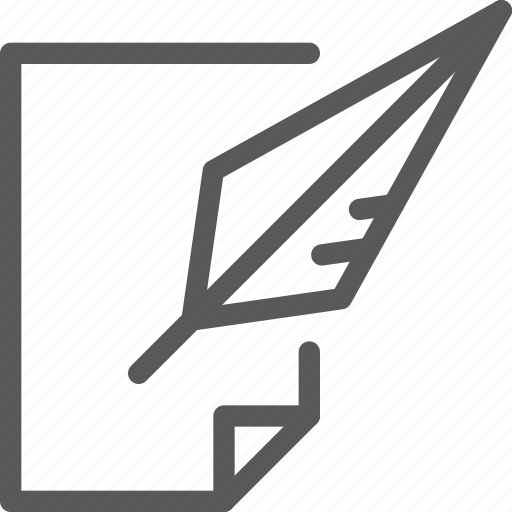 content, edition, feather, ink, quill, signature, write icon