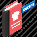 chef book, cookbook, cooking book, kitchen book, recipe book, restaurant menu icon
