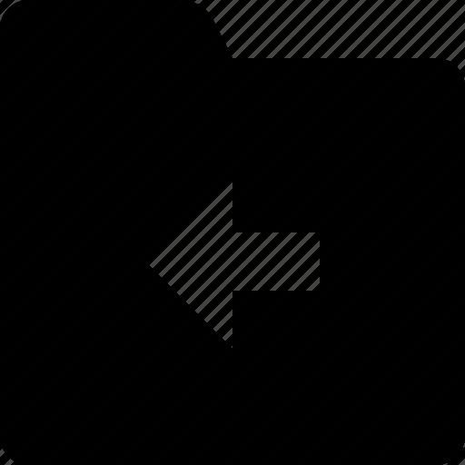 arrow, back, category, document, folder, left icon
