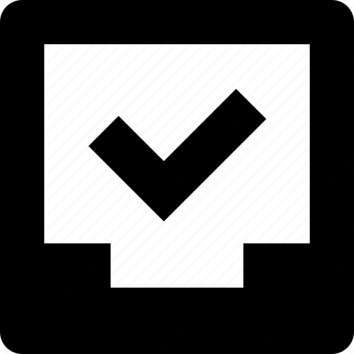archive, checkmark, folder, inbox, success icon
