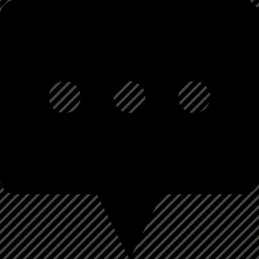 bubble, chat, comment, message, speech, wait, waiting icon